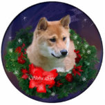 "Shiba Inu Christmas Gifts Ornament<br><div class=""desc"">Wonderful Shiba Inu Christmas art. Wide variety of Holiday merchandise. Great Christmas gifts for Shiba Inu lovers. Quality products.</div>"