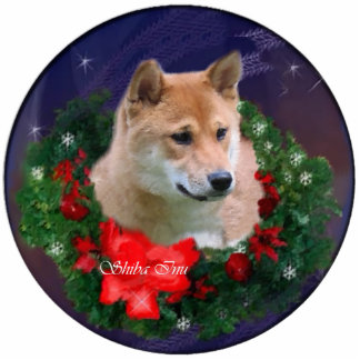 Shiba Inu Christmas Gifts Ornament Photo Cut Out