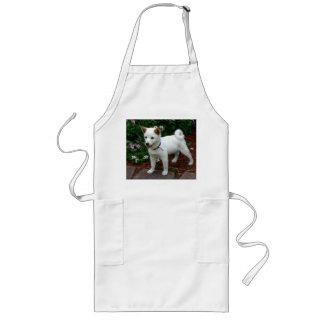 shiba-inu-cream pup long apron