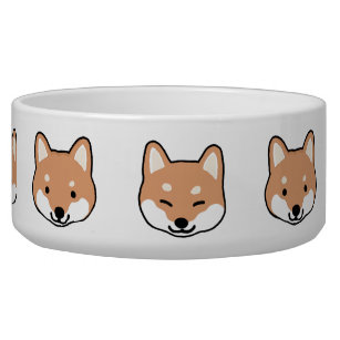 Shiba Inu Cute Dog Faces Bowl