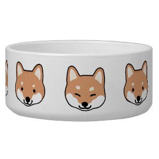 Shiba Inu Cute Dog Faces Dog Water Bowl