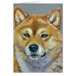 Shiba Inu Dog Art - Suki Greeting Cards