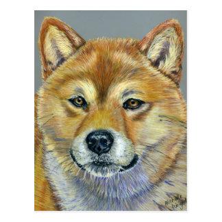 Shiba Inu Dog Art - Suki Postcard
