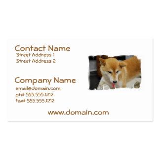 Shiba Inu Dog Business Cards