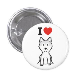 Shiba Inu Dog Cartoon Pinback Button