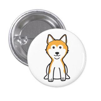 Shiba Inu Dog Cartoon Button