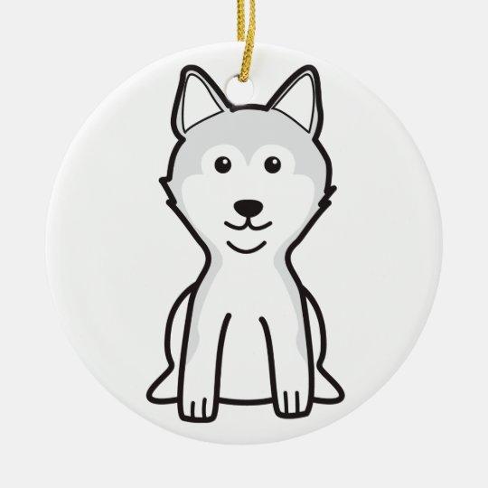 Shiba Inu Dog Cartoon Ceramic Ornament