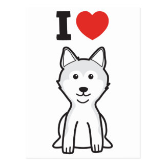 Shiba Inu Dog Cartoon Postcard