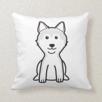 Shiba Inu Dog Cartoon Throw Pillow