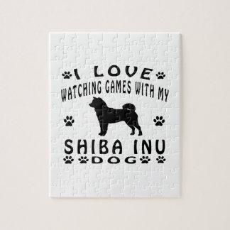 Shiba Inu Dog Design Puzzles