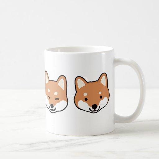 Shiba Inu Dog Faces Coffee Mugs