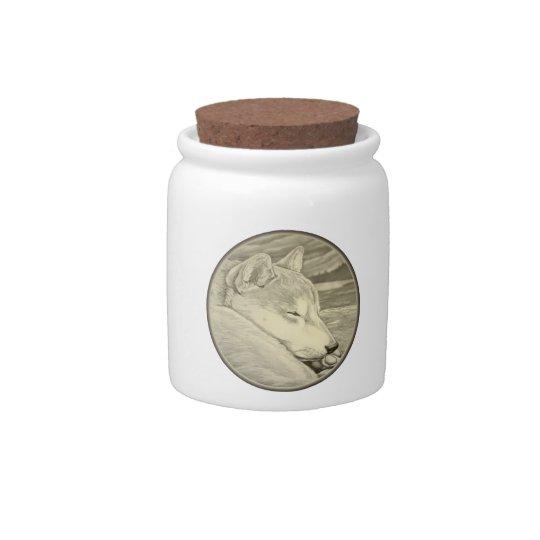 Shiba Inu Dog Jar Shiba Inu Candy Jar Personalized