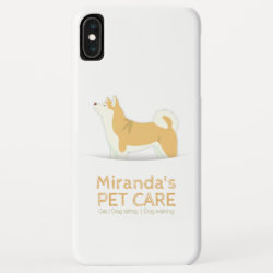 Case-Mate Barely There Apple iPhone XS Max Case with Akita Phone Cases design