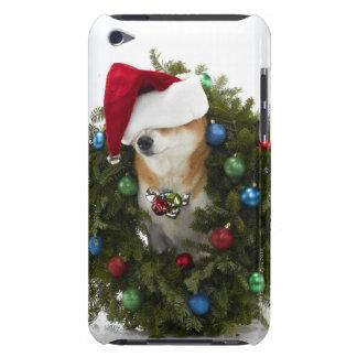 Shiba Inu dog wearing Santa hat sitting in Case-Mate iPod Touch Case