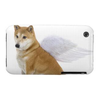 Shiba Inu Dog with angel wings, studio shot Case-Mate iPhone 3 Case