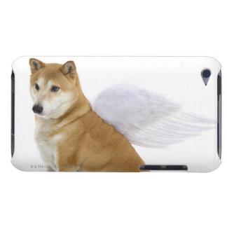 Shiba Inu Dog with angel wings, studio shot iPod Case-Mate Case