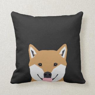 Shiba Inu - ejemplo lindo del perro para los Cojin