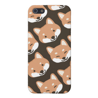 Shiba Inu hace frente iPhone 5 Protectores