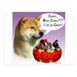 Shiba Inu Halloween Candy Post Cards