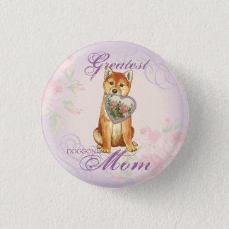 Shiba Inu Heart Mom Button