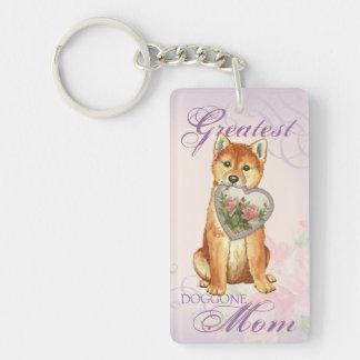 Shiba Inu Heart Mom Keychain
