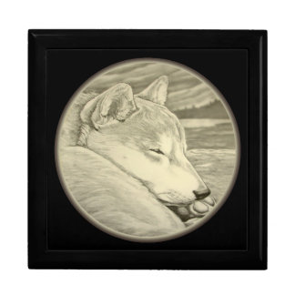 Shiba Inu Jewelry Box Dog Lover Art Boxes