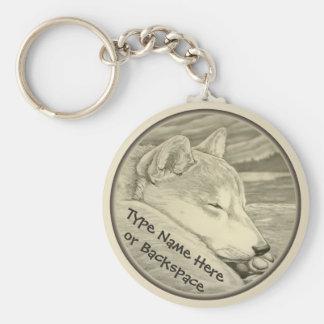 Shiba Inu Keychain Personalized Shiba Inu Dog Gift