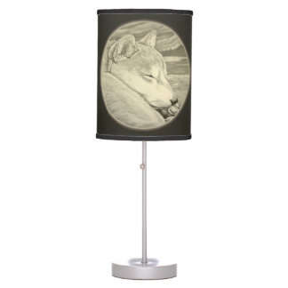 Shiba Inu Lamp Husky & Shiba Inu Dog Floor Lamp