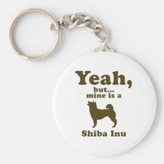 Shiba Inu Llavero Redondo Tipo Pin