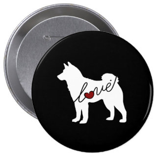 Shiba Inu Love Pinback Button