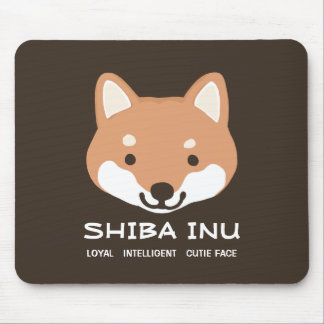 Shiba Inu: Loyal, Intelligent, Cutie Face Mouse Pad