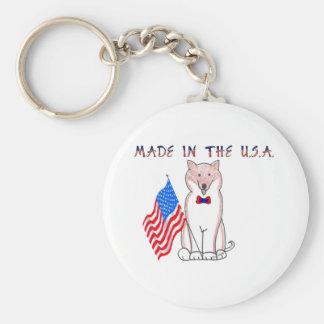 Shiba Inu Made In The USA Keychain
