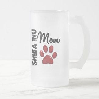 Shiba Inu Mom 2 Frosted Glass Beer Mug