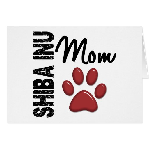 Shiba Inu Mom 2 Greeting Card