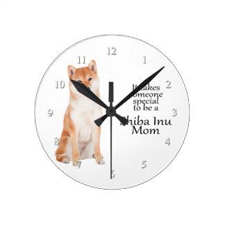 Shiba Inu Mom Clock