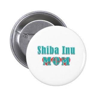 Shiba Inu Mom Hearts Buttons