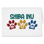 SHIBA INU Mom Paw Print 1 Greeting Card