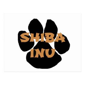 shiba inu name paw.png postcard