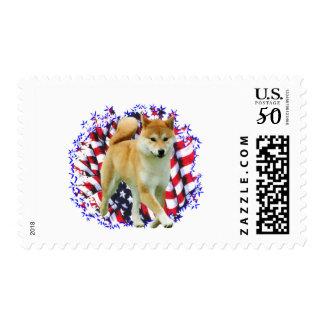 Shiba Inu Patriot Postage