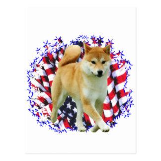 Shiba Inu Patriot Postcard