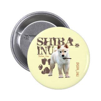 Shiba Inu Pin Redondo De 2 Pulgadas
