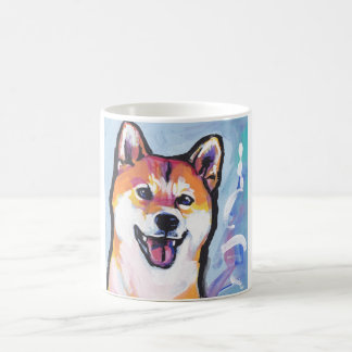 Shiba Inu Pop Art Classic White Coffee Mug