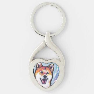 Shiba Inu Pop Art Keychain