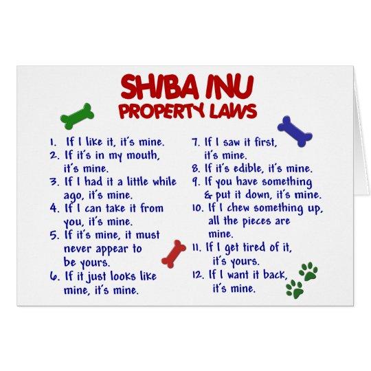 SHIBA INU Property Laws 2 Card