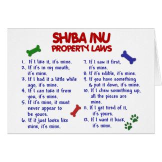 SHIBA INU Property Laws 2 Greeting Card
