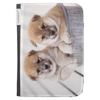 Shiba Inu puppies in aluminum tub Kindle Folio Case