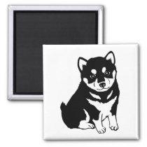 Shiba Inu Puppy Art Magnet