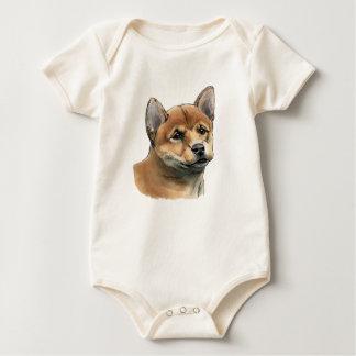Shiba Inu Puppy Drawing Baby Bodysuit