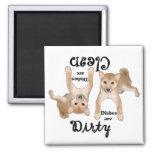Shiba Inu Puppy Lovers Dishwasher Magnet