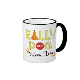 Shiba Inu Rally Dog Mugs